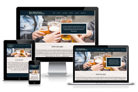 Website Design and Development of Premier Distillery of Uttarakhand