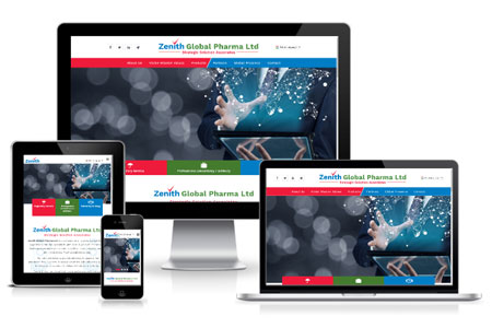 Website Develoment for Zenith Global Pharma, Dubai